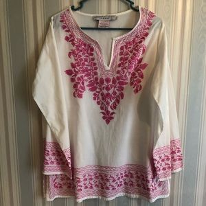 Cotton Embroidered Tangier Tunic size L